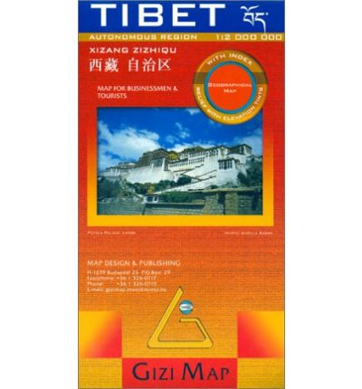 Tibet 1:2.000.000 geographical 9789632041391  Gizi Map   Landkaarten en wegenkaarten Tibet