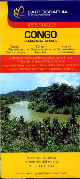 Congo 1:3.000.000 9789633529751  Cartographia   Landkaarten en wegenkaarten Centraal-Afrika: Kameroen, Centraal-Afrikaanse Republiek, Equatoriaal Guinee, Gabon, Congo