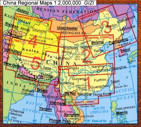China Central 1:2.000.000 (sheet 2) 9789638703040  Gizi Map   Landkaarten en wegenkaarten China (Tibet: zie Himalaya)