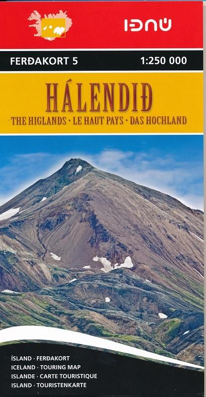 FK5  Highland of Iceland (IJsland - binnenland) 9789979674252  Landmaelingar Islands Ferdakort 1:250.000  Landkaarten en wegenkaarten IJsland