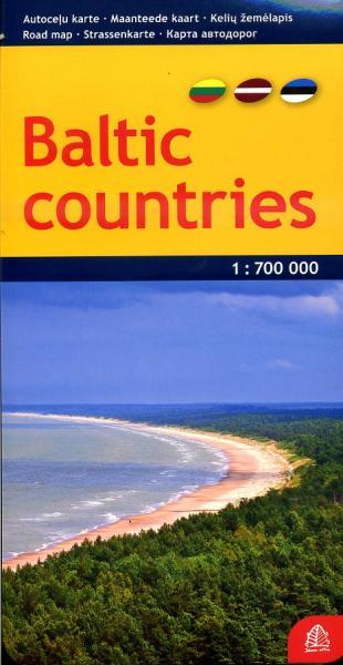 Baltische Staten | wegenkaart 1:700.000 9789984074085  Jana Seta   Landkaarten en wegenkaarten Baltische Staten en Kaliningrad