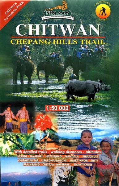 Chitwan (Chitawan) - Chepang Hills Trail 1:50.000 9789993347262  Nepa Maps Wandelkaarten Nepal  Wandelkaarten Nepal