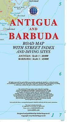 Antigua 1:35.000 9791095793052  Kaprowski Maps   Landkaarten en wegenkaarten Overig Caribisch gebied