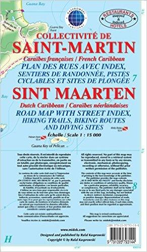 Sint-Maarten (St-Martin) 1:25.000 9791095793144  Kaprowski Maps   Landkaarten en wegenkaarten Aruba, Bonaire, Curaçao
